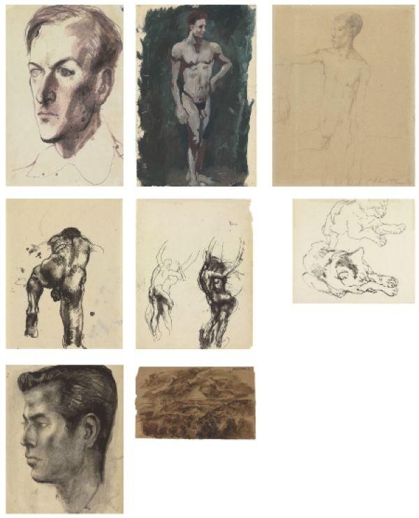 Рисунки карандашом сидящего мужчины