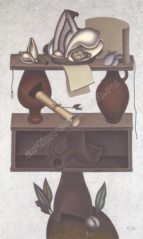 ДМИТРИЙ КРАСНОПЕВЦЕВ Натюрморт с тремя кувшинами. 1976
