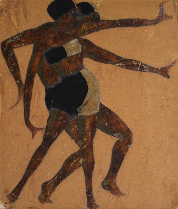 Kasian Goleizovsky dancing couple. 1920