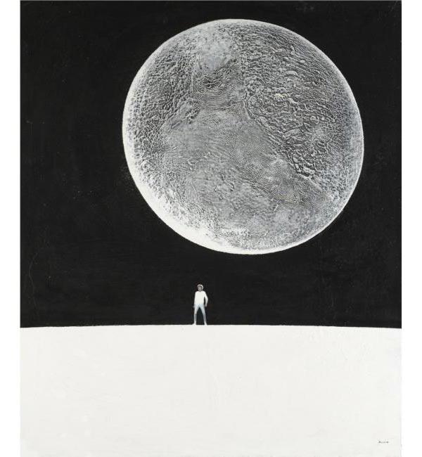 PETER BELENOK. Landscape with Moon. 1988