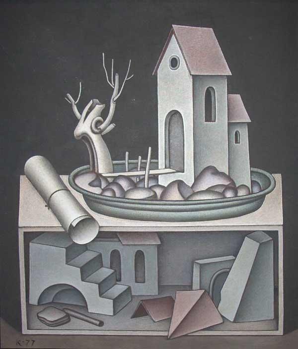 Dmitry Krasnopevtsev Landscape on a platter (theatrical layout)