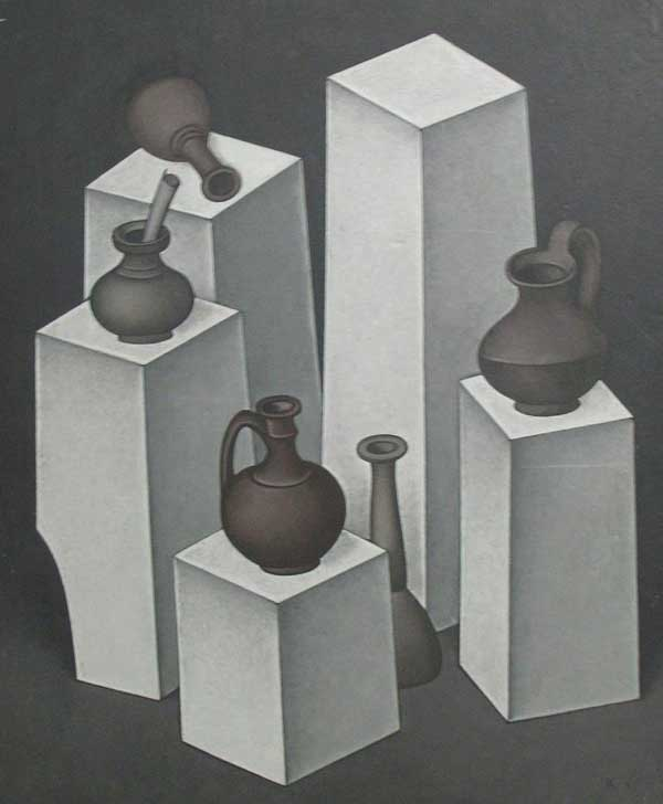 Dmitry Krasnopevtsev Receptacles on a pedestal