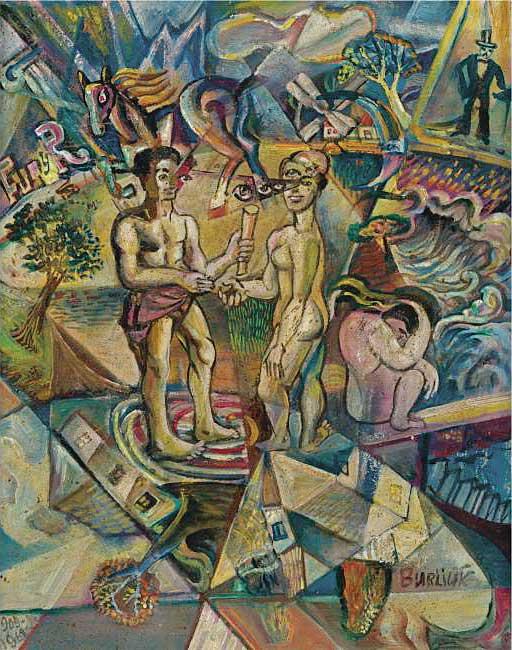 ДАВИД БУРЛЮК. Кубофутуристическая композиция. 1909–1962