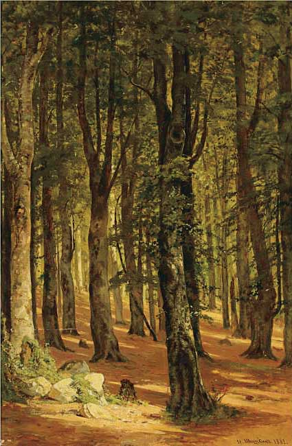 ИВАН ШИШКИН. В лесу. 1882