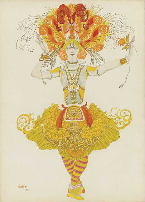 ЛЕВ БАКСТ. Эскиз костюма к балету «Жар-птица». 1922