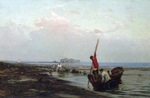 ОРЛОВСКИЙ ВЛАДИМИР ДОНАТОВИЧ. Утро в заливе. Рыбаки