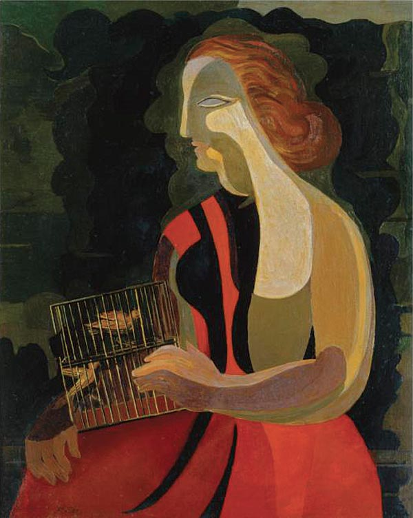 АЛЕКСАНДРА ЭКСТЕР Женщина с птицами