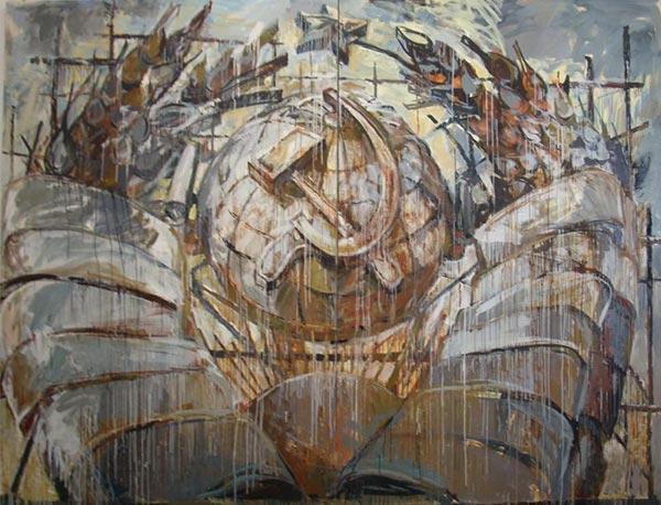 Как рисовать картины маслом и оставаться в контексте? Впечатляющие полотна Валерия Кошлякова