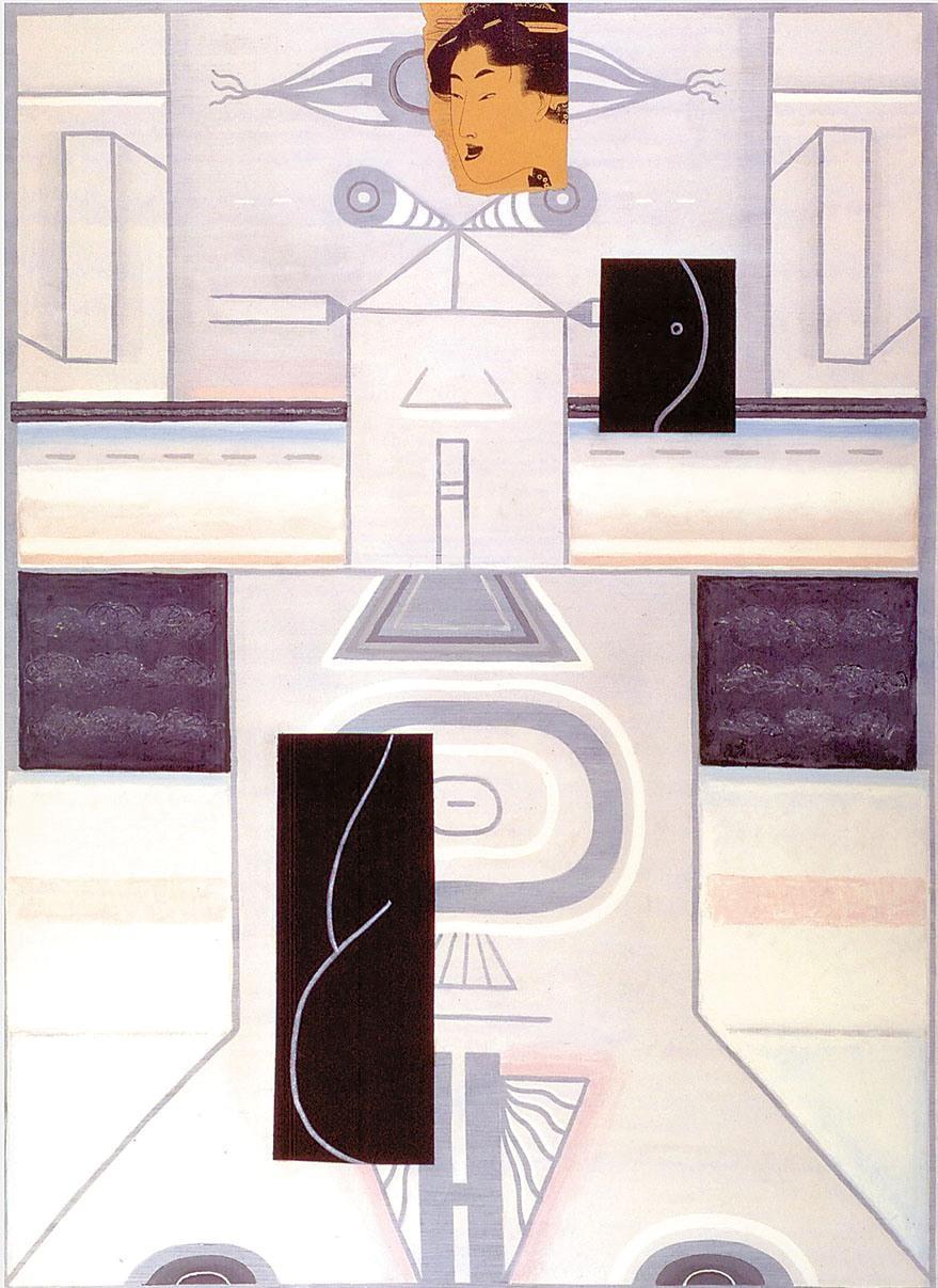 ВЛАДИМИР ЯНКИЛЕВСКИЙ Женщина у моря (посвящение Утамаро). 1999