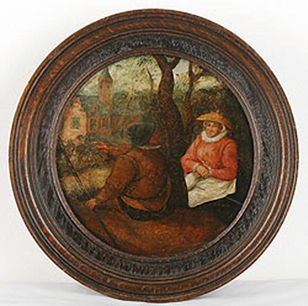 Картина, которая может оказаться произведением Питера Брейгеля Младшего. Ок. 1620