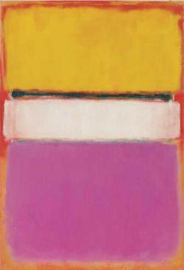 МАРК РОТКО Белый центр (желтый, розовый и бледно-лиловый на темно-розовом)