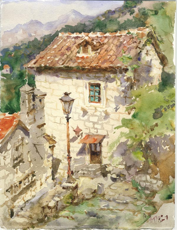 SERGEI ALDUSHKIN Old house in Kotor