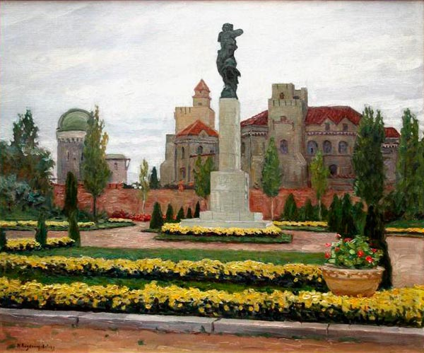 NIKOLAY BOGDANOV-BELSKY City. 1930. Oil on canvas. 66 x 78