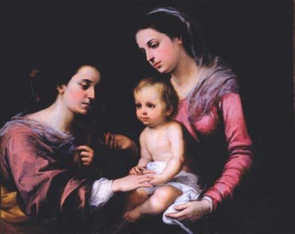 БАРТОЛОМЕ ЭСТЕБАН МУРИЛЬО Мистическое обручение Святой Екатерины. 1650–1665