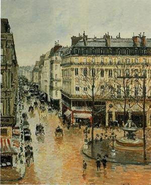 camille pissarro rue saint honore noon rain 1897. Black Bedroom Furniture Sets. Home Design Ideas