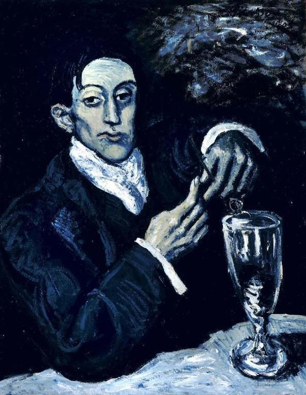 Pablo Picasso. Portrait of Angel Fernández de Soto (fan of absinthe). 1903