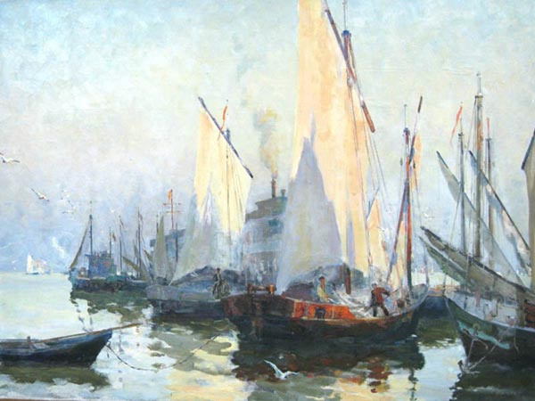 Exhibition marine painter Sergei Shomina in Astrakhan