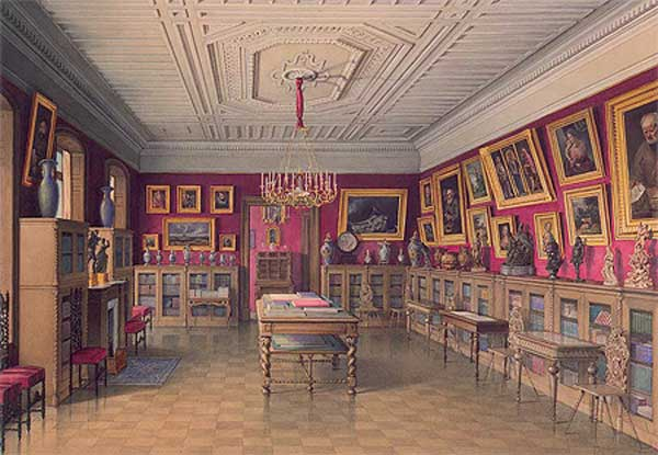 Jules MEYBLYUM library at home PS Stroganov in St. Petersburg. 1860 -e