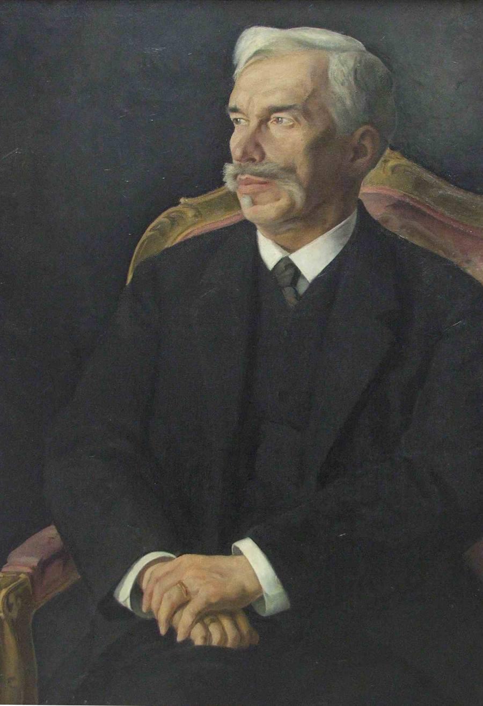 Sergei Ivanovich Shchukin. 1915. Portrait by Dmitry Melnikov