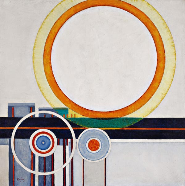 Kupka FRANTIŠEK white circle. 1946
