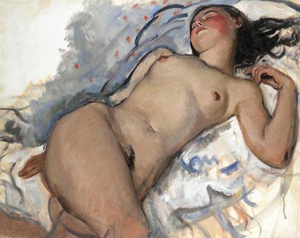 Zinaida Serebryakova Reclining Nude