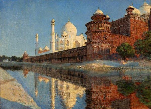 Masterpieces of the Taj Mahal. Evening. 1874-1876