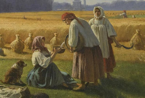ВАЛЕРИАН КАМЕНЕВ Жатва. 1865(Фрагмент