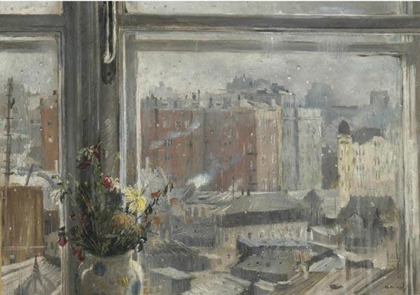 ЮРИЙ ПИМЕНОВ Вид из окна. 1954
