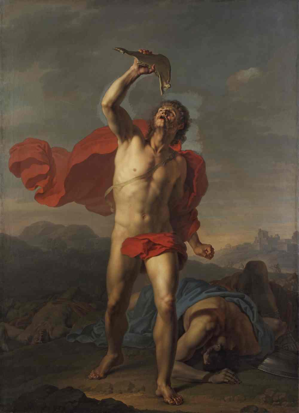 ЧЕРНОВ И. П. Самсон утоляет жажду из ослиной челюсти. 1800