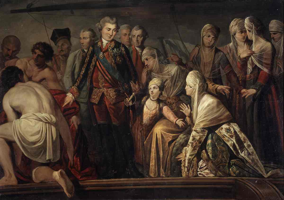 Неизвестный художник второй половины XVIII века. Граф Алексей Григорьевич Орлов после Чесменского боя