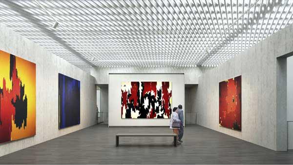 Интерьер нового музея Клиффорда Стилла в Денвере