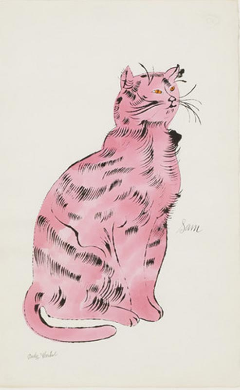 ЭНДИ УОРХОЛ Сэм (нежно-розовый). 1954