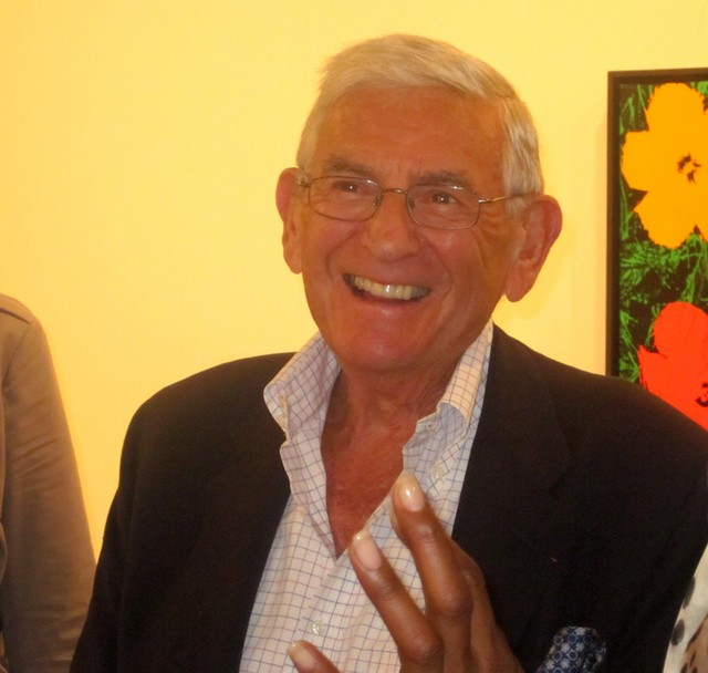 Меценат и коллекционер Эли Броуд на ярмарке Art Basel Miami Beach