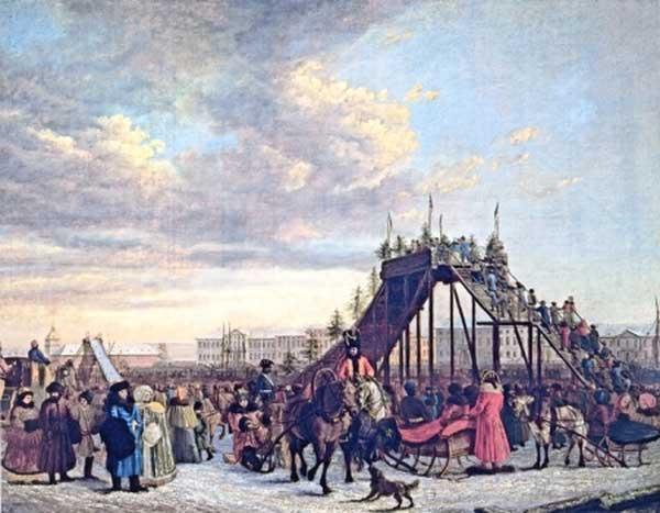 ТОМАС АТКИНСОН Катание с гор на Неве. 1792