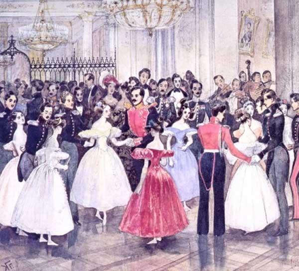 ГРИГОРИЙ ГАГАРИН Бал у княгини М. Ф. Барятинской. 1834