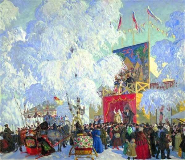 БОРИС КУСТОДИЕВ Балаганы. 1917