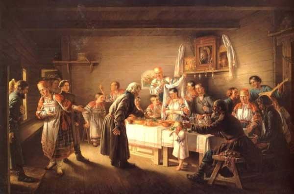 НИКОЛАЙ ПЕТРОВ Смотрины невесты. 1861