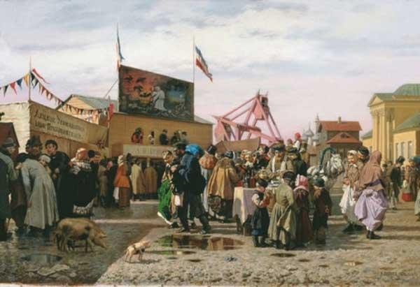 АНДРЕЙ ПОПОВ Балаганы в Туле на Святой неделе. 1873