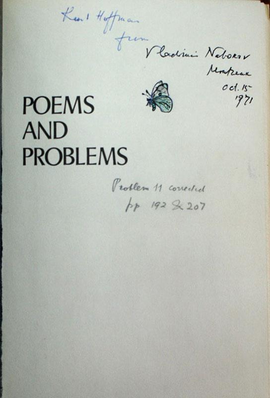 Лот №141. Набоков, В. Poems and problems