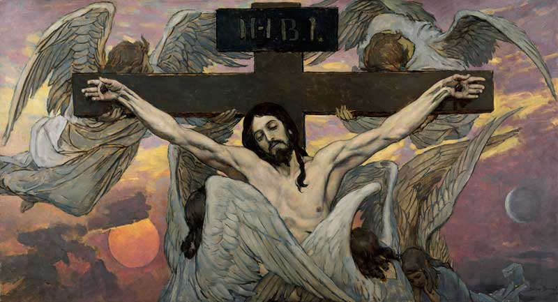 Viktor Vasnetsov Crucified Christ cardboard painting the ceiling of the main nave