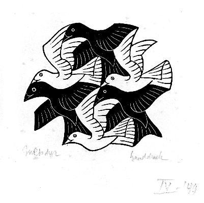 Maurits Escher Drawing