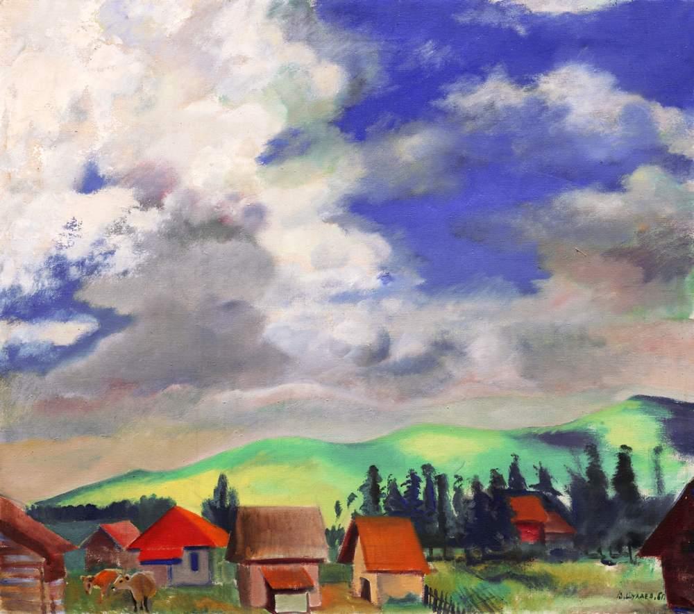 ВАСИЛИЙ ШУХАЕВ Пейзаж с телятами. Цихис-Джвари. 1961