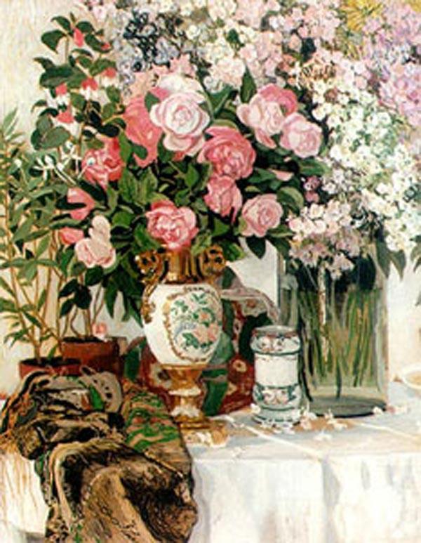 Александр головин розы и фарфор 1910 е
