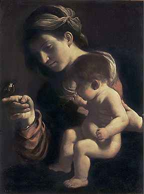 Гверчино мадонна с младенцем мадонна