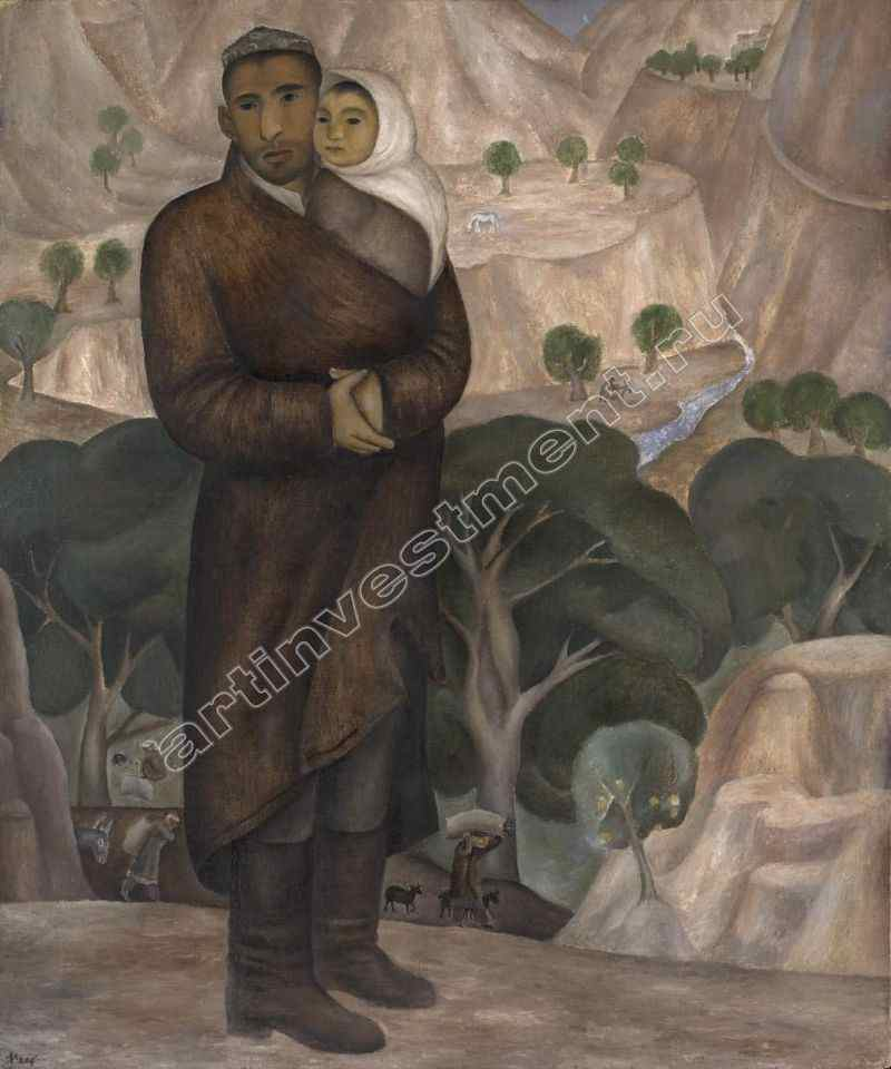 НЕСТЕРОВА НАТАЛИЯ ИГОРЕВНА (1944) Мельник и его сын. 1969