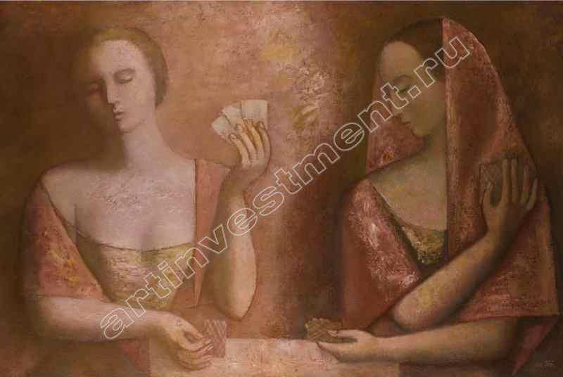УЛГАКОВА ОЛЬГА ВАСИЛЬЕВНА (1951) Две девушки. 1994