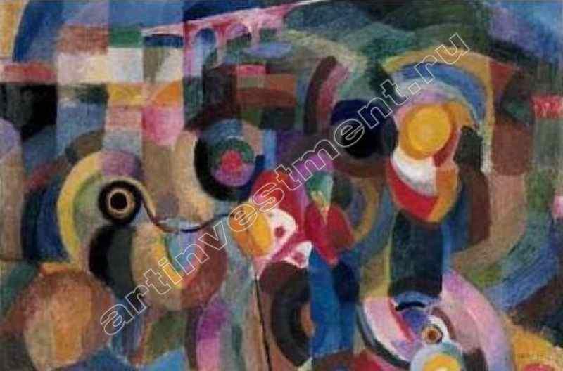 СОНЯ ДЕЛОНЕ (1885–1979) Рынок в Миньо. 1915