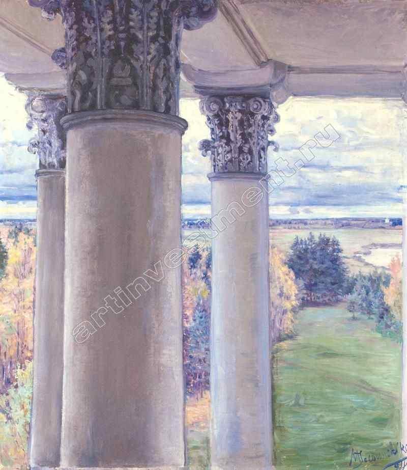 ЯКУНЧИКОВА МАРИЯ ВАСИЛЬЕВНА (1870–1902) Вид из окна старого дома. Введенское. 1894