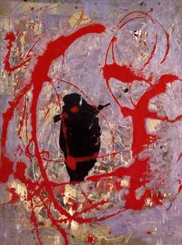 Картинки по запросу джексон поллок красное черное и серебристый
