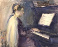 Artist: Deineko, Olga Konstantinovna : A music lesson